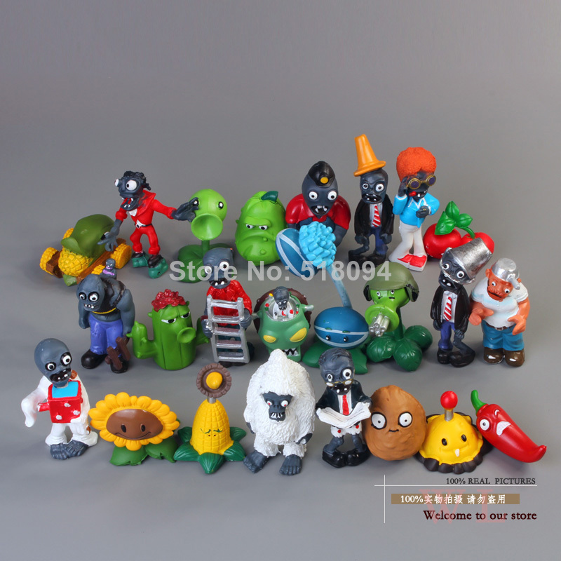 все цены на 24pcs/lot PVZ Plants vs Zombies Figures 3-8cm Plants and Zombies PVC Action Figures Collection Toys Boy Gifts