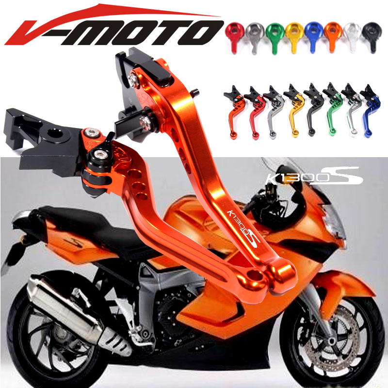 For BMW K1300S K 1300S 2009-2015 GRAY RED BLACK GOLD MOTO MOTOBIKE Motorcycle Adjustable Brake Clutch Levers gray for yamaha vmax v max 2009 2014 red black blue new style motor motobike motorcycle adjustable short brake clutch levers