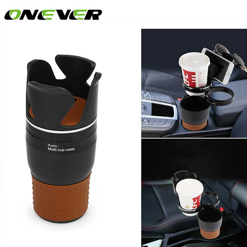 Onever Multi Function Car Storage Box Car Drink Holder Car Organizer 360 Degree Rotation for Coins Keys Phone Stand