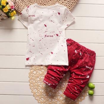 New Summer Baby Boys Clothing Set For Kids Star T-Shirt+Short 2