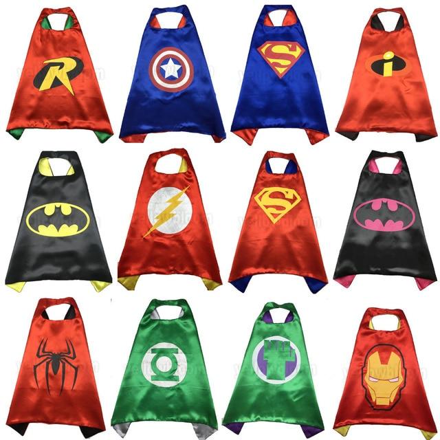 Crianças Capas de Super-heróis Superman Spiderman Cosplay partido Melhor presente para As Crianças Natal do Traje de Halloween Do Bebê Manto
