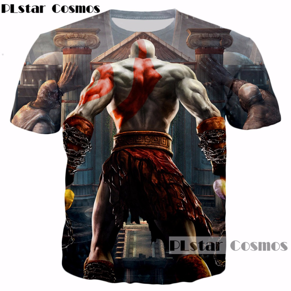 PLstar Cosmos summer Newest Men/Women 3d t-shirt Classic game God of War prints t shirts harajuku style casual O-Neck Tee shirts