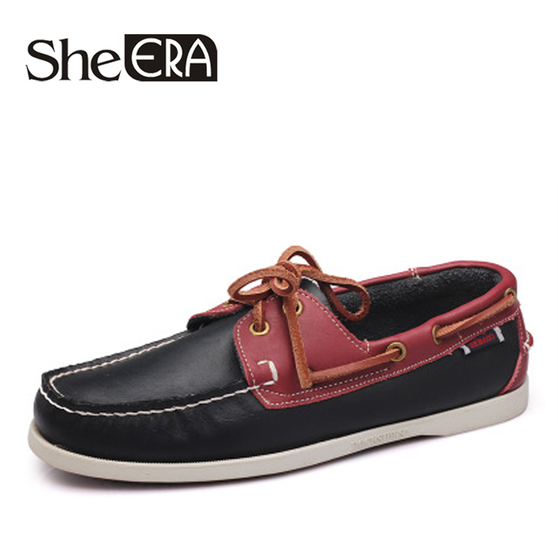 Mens Shoes Handmade Genuine Leather Mixed Colors Boat Shoes For Men Waterproof Sewing Colorful Driving Sneakers Male FashionMens Shoes Handmade Genuine Leather Mixed Colors Boat Shoes For Men Waterproof Sewing Colorful Driving Sneakers Male Fashion