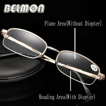 5a9497679f Bifocal Gafas para leer hombres mujeres diopter presbyopic prescripción  multifocal ojo masculino Gafas + 1.0 +