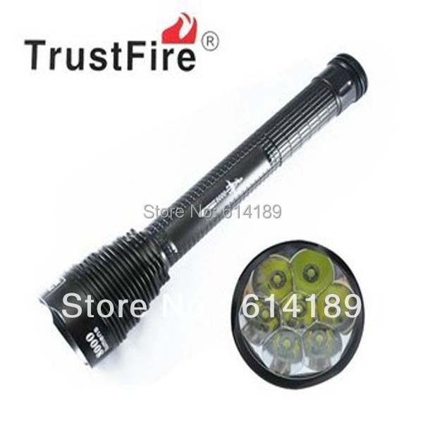 TrustFire TR-J18 7xT6 8000lm High Power 5-Mode Memory LED Flashlight (2x18650/26650 3x18650/26650) trustfire tr j18 3000lm 5 mode memory white flashlight black 2 3 x 18650 26650