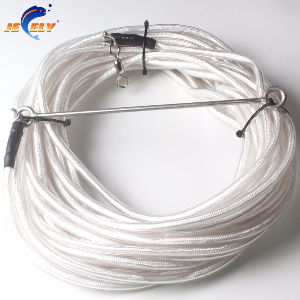 Jeely 10/20/30M PVC Coated UHMWPE Spectra Spearfishing Speargun&Freediving Float Line 1400LB Breaking Strength цены