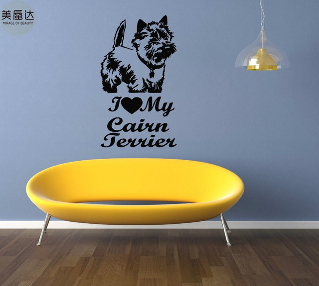Cairn Terrier Dog Puppy Breed Pet Animal Family Wall Sticker Decal Mural