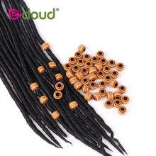 50 шт бусины для дредов пластиковые/резиновые плетеных колец