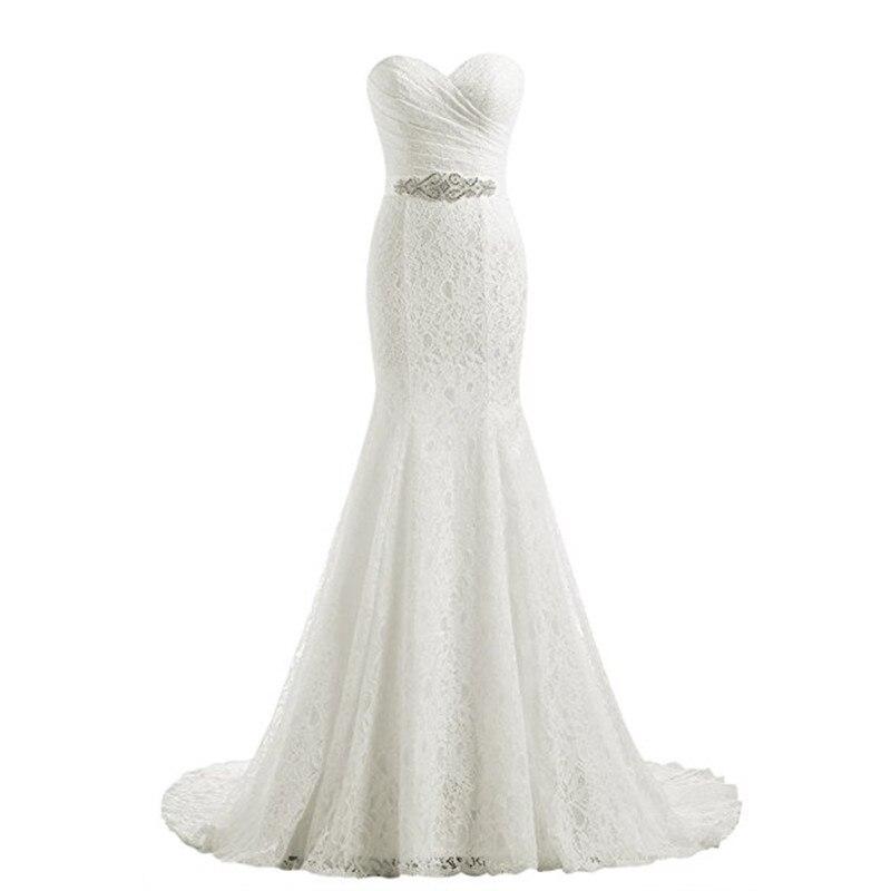 2019 Wedding Dress Cheap Elegent Mermaid Lace Bridal Dress Real Photo Sweetheart Bridal Gown Vestido De Noiva