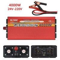 Car Inverter Power 4000W DC 12V To AC 220V Modefied 24V To 110V for Automobiles Charger 4000W Voltage Transformer Car Converter