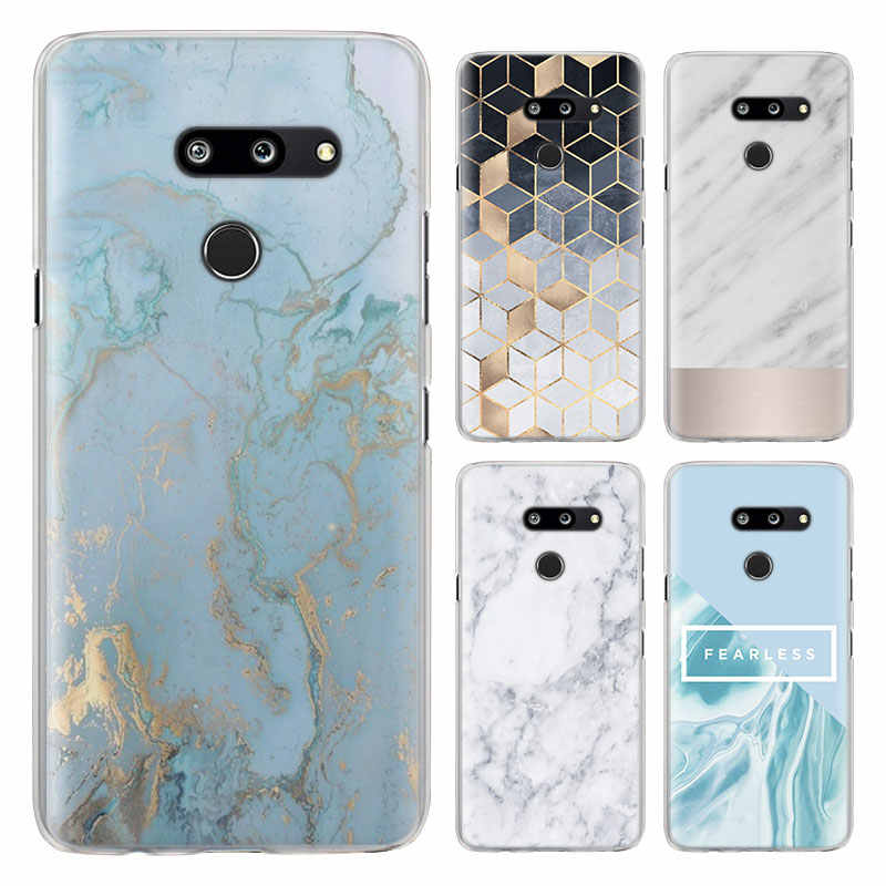 gold marble Line sparkle Phone Cases for LG G7 G8 ThinQ G5 G6 V30 V40 V50 ThinQ Q6 Q7 Hard PC back cover case