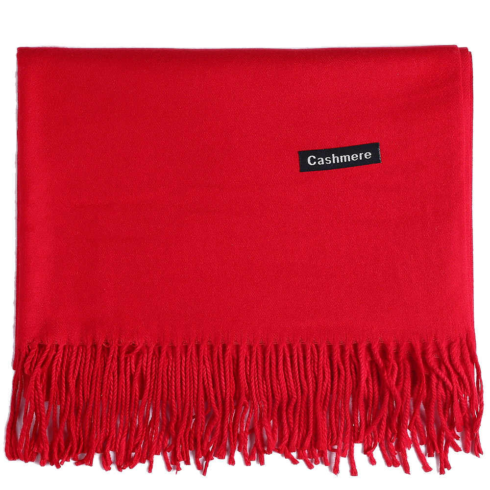 f75d1c216 Cashmere Scarf Shawl Solid Plain Autumn Winter Spring Wrap Warm High  Quality Soft Hijab Thick Women