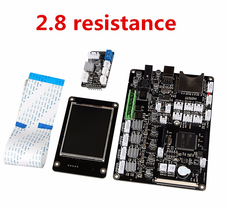 3d PRCB 2.8 inch touch screen non-open source motherboard double sprinklers thermal resistance 32-bit ARM PCB 3D Printer Parts 3d printer control panel red rabbit motherboard 3d print main control board 3 5 inch touch screen single head thermal resistance