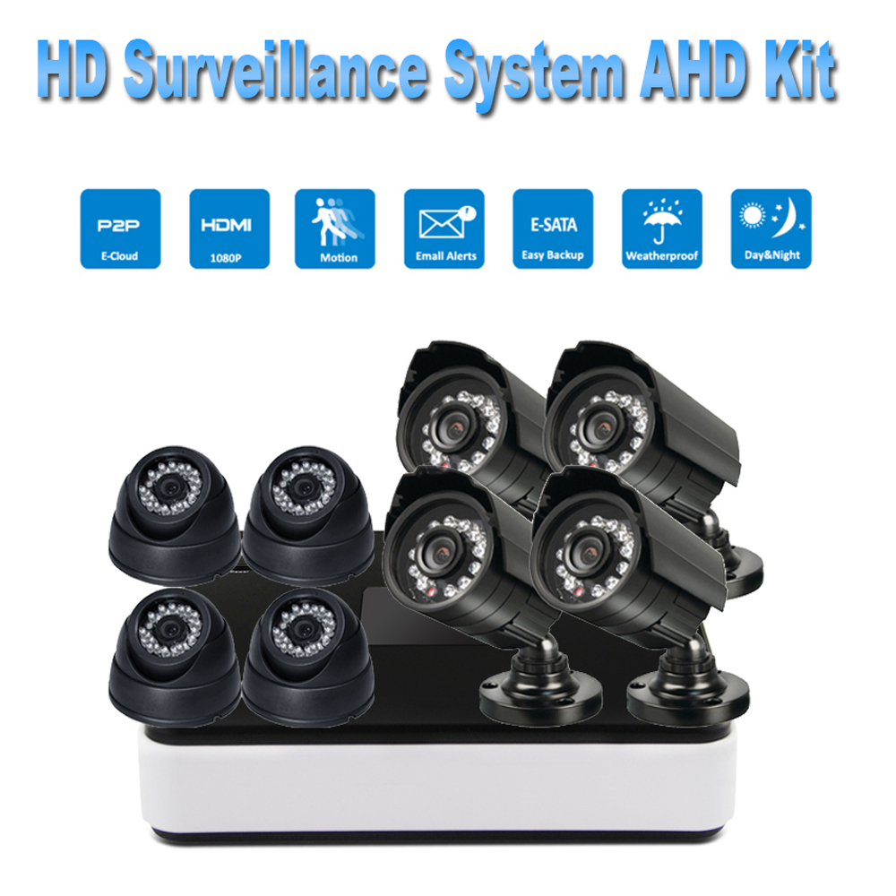 PUAroom 8CH night vision IR Cut AHD security camera RoHS FCC CE approved H.264 onvif video recording CCTV Camera Systems