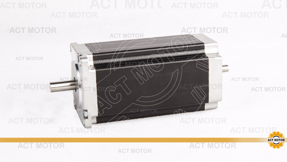 Free ship from Germany! ACT Motor 1PC Nema23 Stepper Motor 23HS2430B Dual Shaft 4-Lead 425oz-in 112mm 3.0A Milling Machine Cut