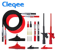 2018 Cleqee P1600B 10-in-1 Electronic Specialties Test Lead kit Automotive Probe Kit Multimeter probe leads Banana plug