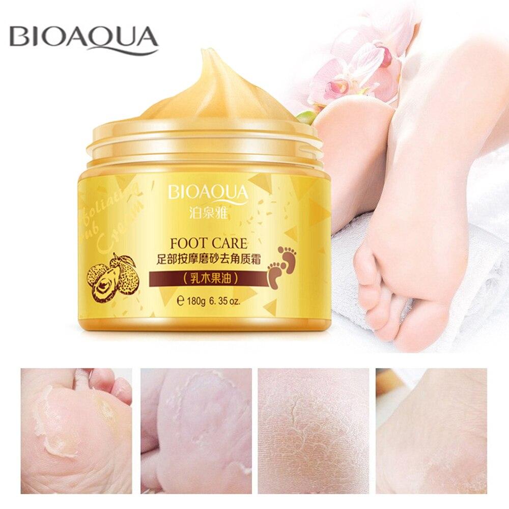 BIOAQUA Foot Massage Scrub Cream Skin Anti Wrinkle Whitening Exfoliating Repair Rough Smooth Moisturizing Feet Massage Cream bioaqua exfoliante para pies