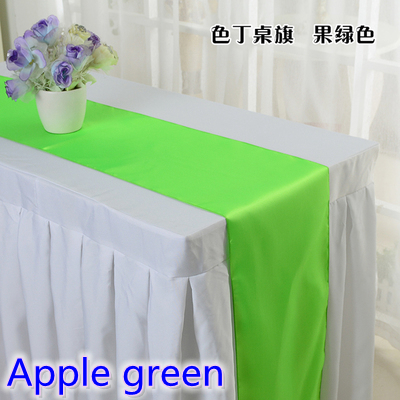 Apple Green Colour Wedding Table Runner Decoration Satin Table Runner For  Modern Party Home Hotel Banquet