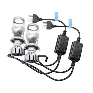 Image 2 - TAOCHIS 12 فولت 1.5 بوصة LED لمبة H4 جهاز عرض صغير عدسة المصباح للسيارة شعاع ثنائية LED عدسة مع مروحة التبريد سيارة ضوء الملحقات