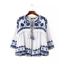 Womens Embroidery Lace Cardigan Kimono Jacket Spring And Autumn Printing Fashion Casual Coats Female Kimono Tops J1722-3