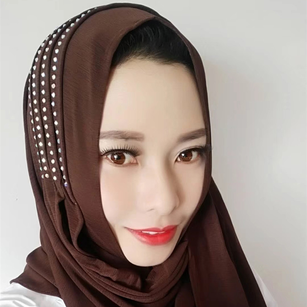 Fashion Muslim Instant Hijab Women   Scarf     Wrap   Headband Bandanas Hooded   Wraps   Bonnet Shawl Headscarf Abaya Headgear Arab Islamic