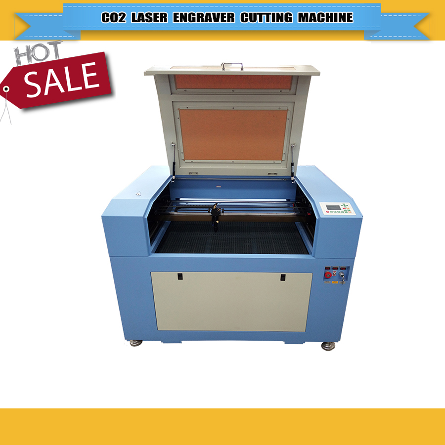 Low Price 80W 600*900mm Ruida System CO2 Laser Engraver/Engraving Cutting Machine 6090/9060  For Glass Bottle