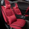 Ventilación cómoda + Antiestático + no pilling rojo estéreo asiento cojín del asiento de coche de lino cubre para las mujeres para opel astra YZA08