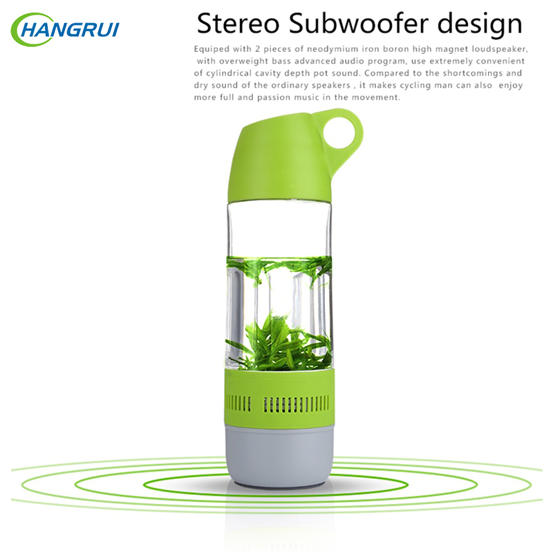 HANGRUI Outdoor cycling Water bottle bluetooth speaker Wireless loudspeakers Portable Sport music player For xiaomi Smartphone
