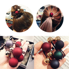LNRRABC 5 Colors Gifts Elasticity Hot Sale Hair Rope Wedding Round Scrub Beads Beautiful 1PC Unique High Quality Korean