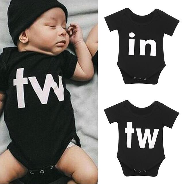 95f3f38da Family Matching Newborn Infant Baby Boys Girls Short Sleeve Twins ...