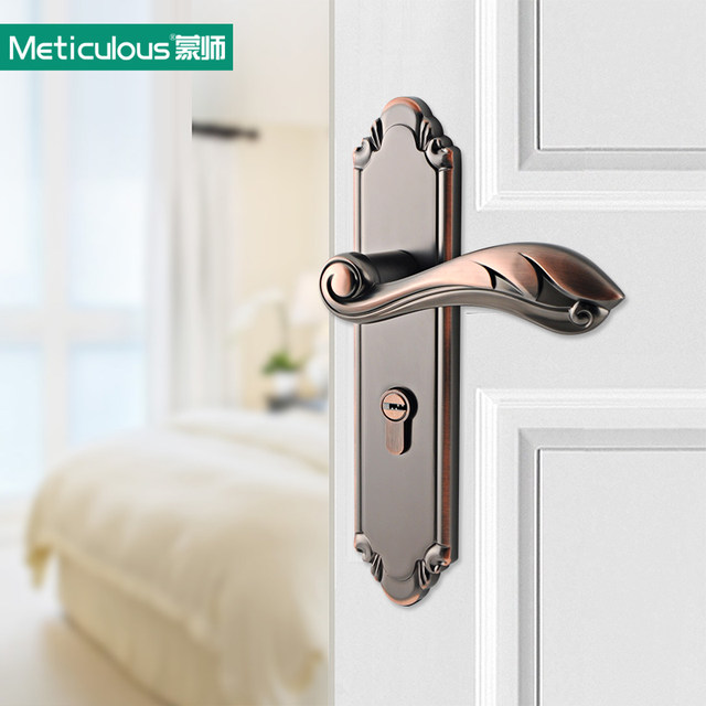 Meticulou Mortise Interior Door Lock Set Security Entry Doors Lever Lockset Silent Lock Core Stainless Steel Locks Spring Bolt