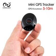 ChonChonw Mini GPS Tracker 45x35mm for Kids Personal Tracker with Free Collar Two-way Communication Lifetime Free Platform APP