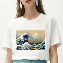 New Summer T Shirt Women spoof Surf starry sky Printed Harajuku funny T-shirt aesthetics Hipster Thi