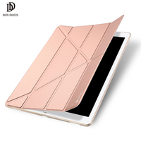 Voor Apple i Pad Pro 12.9 2017 DUX DUCIS Huid Pro Origami Smart Leather Stand Cover voor i Pad Pro 12.9 2017-Rose goud