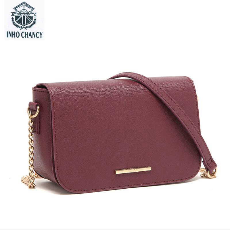 INHO CHANCY! Foreign trade Spain Pakistan card 2017 new chain bag shoulder bag Messenger bag fashion small square bag