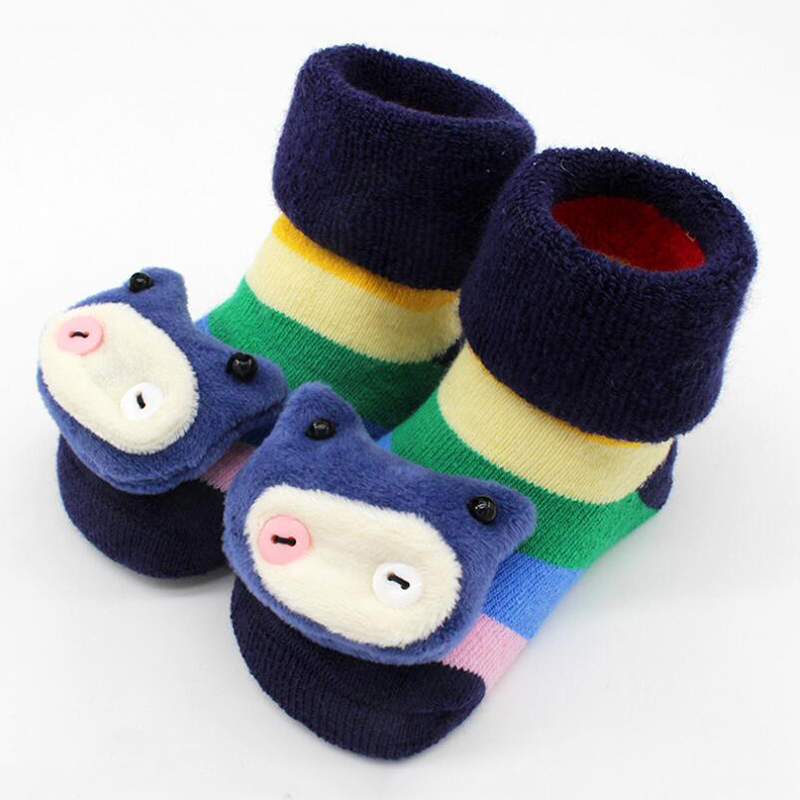 Baby Girl Boys Anti-slip Socks Infant Toddler Winter Warm Newborn Slipper Shoes