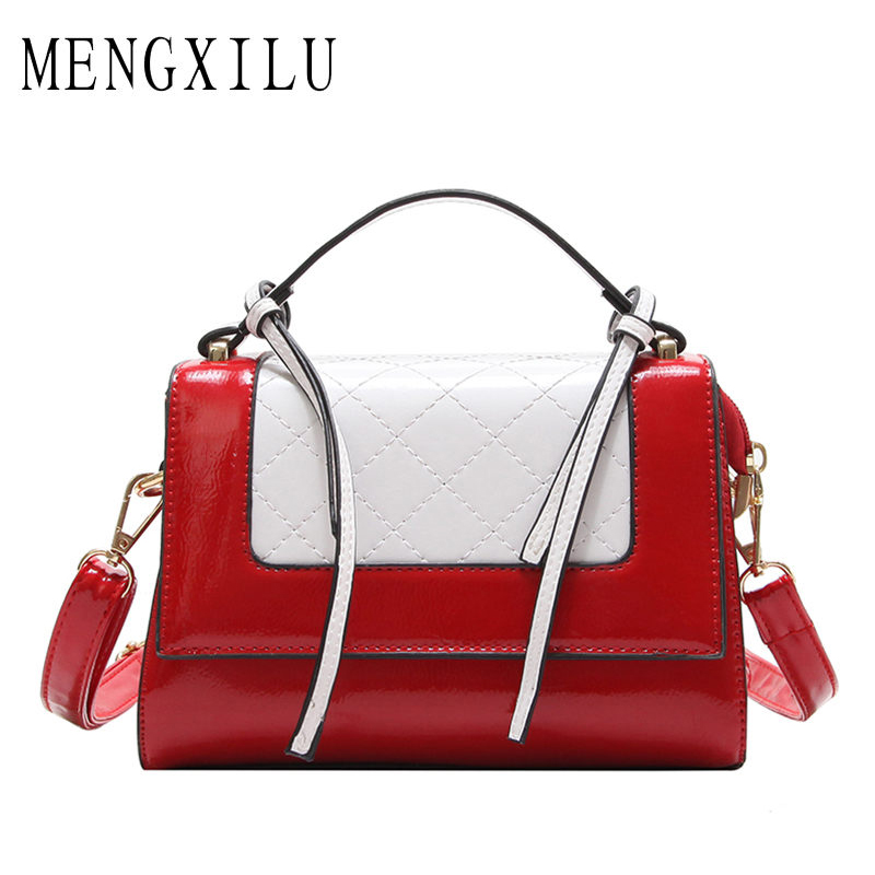 MENGXILU Hit Color Crossbody Bags For Women Messenger Bags Handbags Women Famous Brand Designer High Quality Tassel Bag Ladies