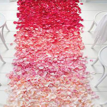 500pcs Fake Petals Rose Wedding Decorations Silk Petal Artificial Flowers Bride To Be Bachelorette Party Decoration Home Decor(China)
