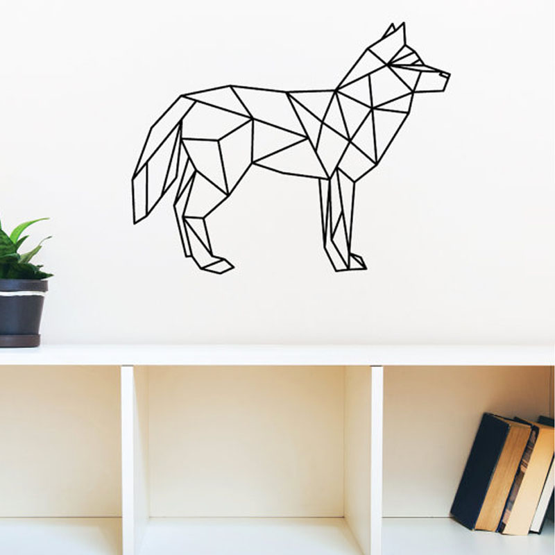 Hot Dog Wall Decals Vinyl Art Stickers Geometric Home Decor Creative Decoration In From Garden On