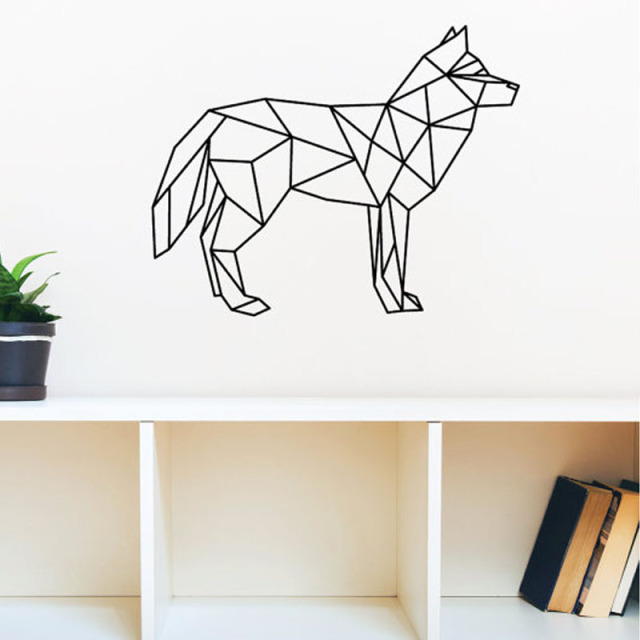 Hot Sale Dog Wall Decals Vinyl Art Stickers Geometric Home Decor Wall  Stickers Creative Wall Decoration