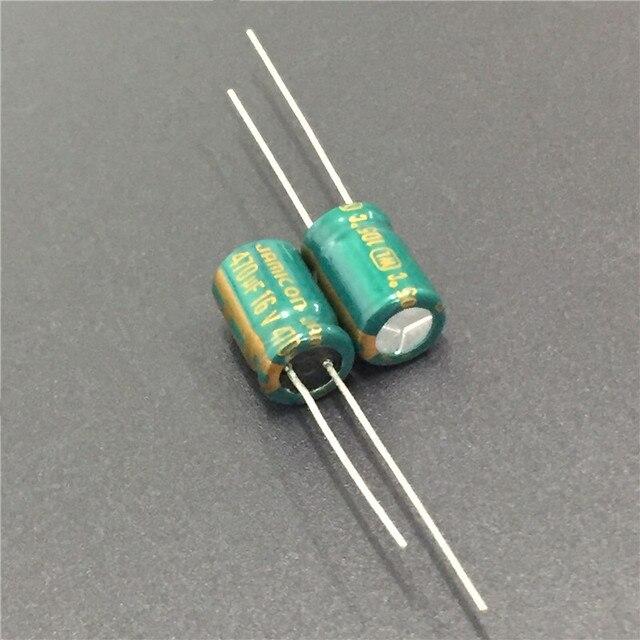 10 шт. 470 мкФ 16V JAMICON WL серия низкое сопротивление 8x11,5 мм 16V470uF алюминиевый электролитический конденсатор