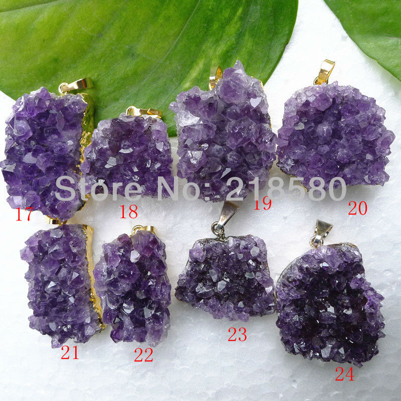 H amd38 raw druzy amethysts pendant druzy cluster triangle pendant h dp16 raw amethyst necklace pendant purple amethyst stone pendant purple druzy 25mm 36mm longrandom in shape aloadofball Choice Image