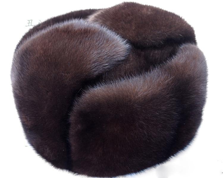 Automne et d'hiver de fourrure de vison occasionnel les personnes âgées chapeau de vison chapeau de fourrure lei feng chapeau pour homme LIVRAISON GRATUITE