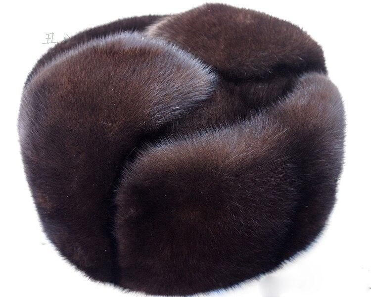 Outono e inverno pele de vison casuais idosos chapéu de pele de vison chapéu lei feng chapéu para o homem FRETE GRÁTIS