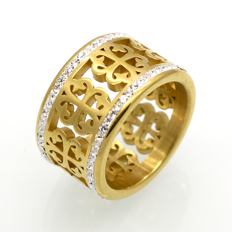 Fashion brand trendy flower vintage wedding rings for Vintage style fashion rings