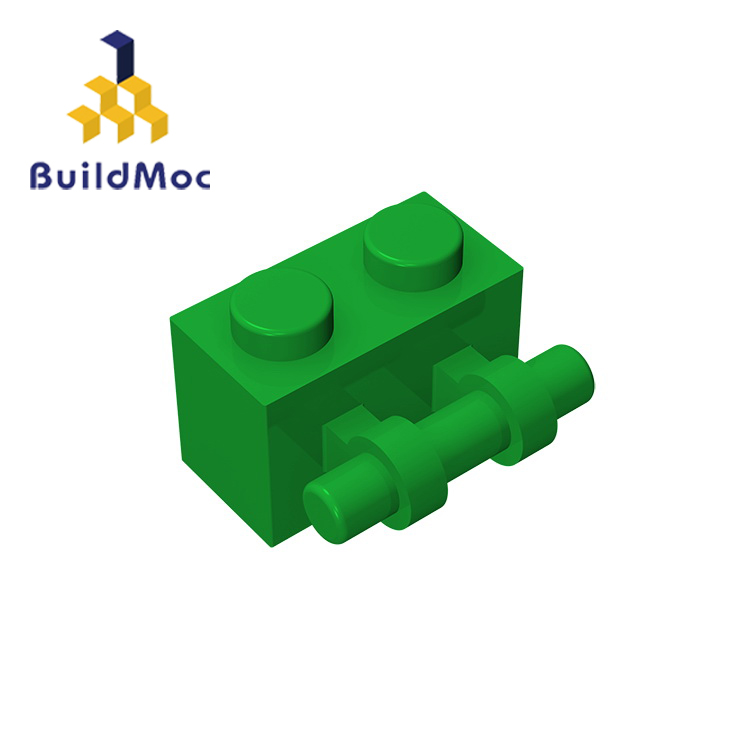 BuildMOC 30236 Brick Modified 1 X 2 With Handle For Building Blocks Parts DIY LOGO Educational Creative Gift Toys