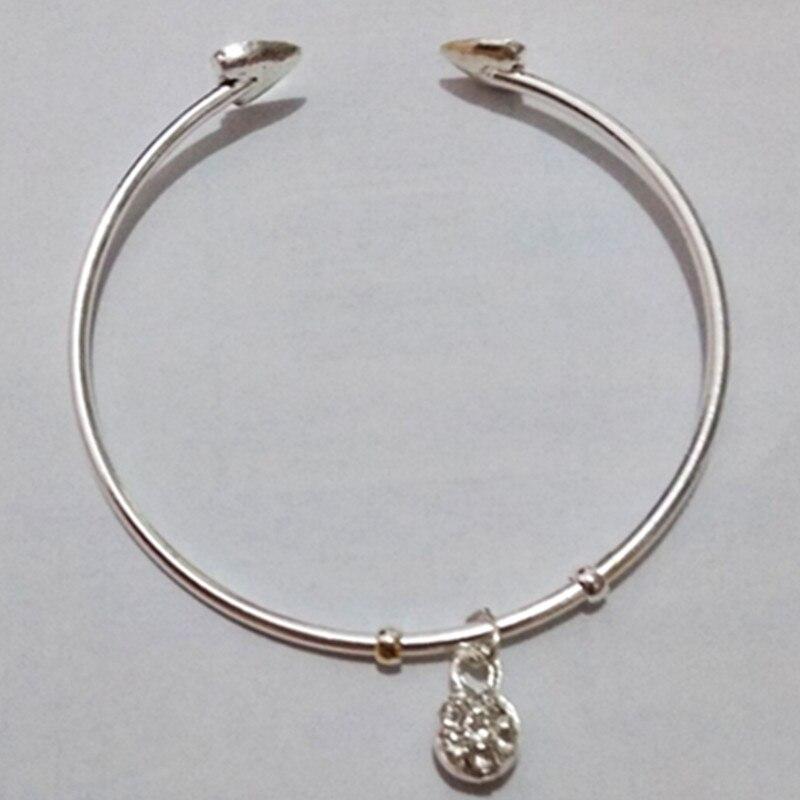 New Fashion Rose Gold & Silver Bracelet Fashion Open Cuff Bracelet & Crystal Pendant Women Bracelet