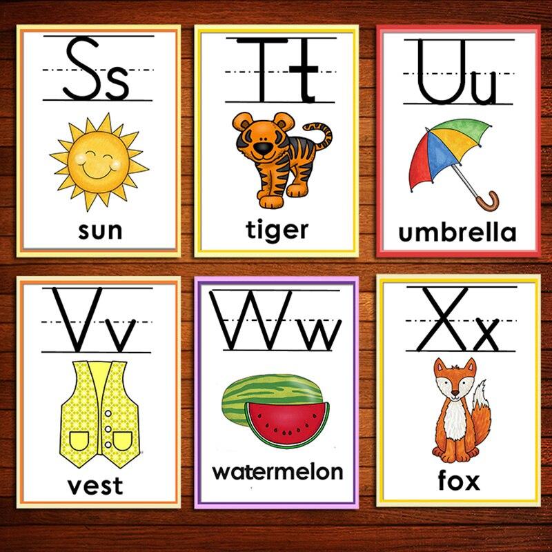animais cartoes de palavra cedo brinquedos educativos 02