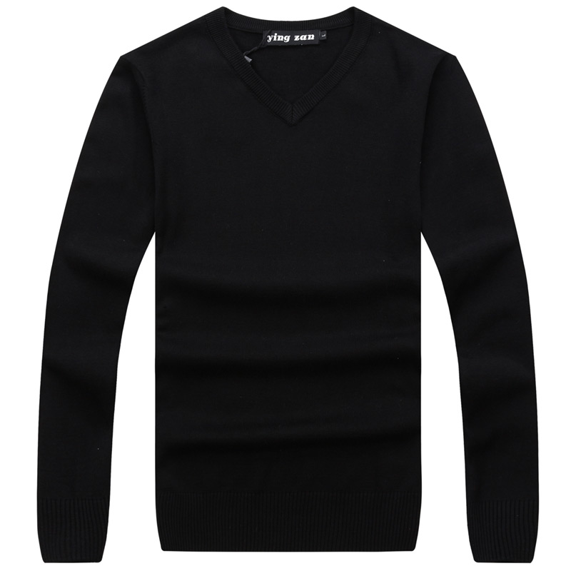 Cashmere Pullover Men's Sweaters Slim-Fit Long-Sleeve Wool Autumn Design Winter Casual