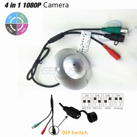 Nuovo 1080 P 4 IN 1 Soluzione Sony 323 TVI/CVI/CVBS UFO Volante piattino CCTV Menu Osd Telecamera AHD Con Impermeabile 3.7mm Pin hole lente
